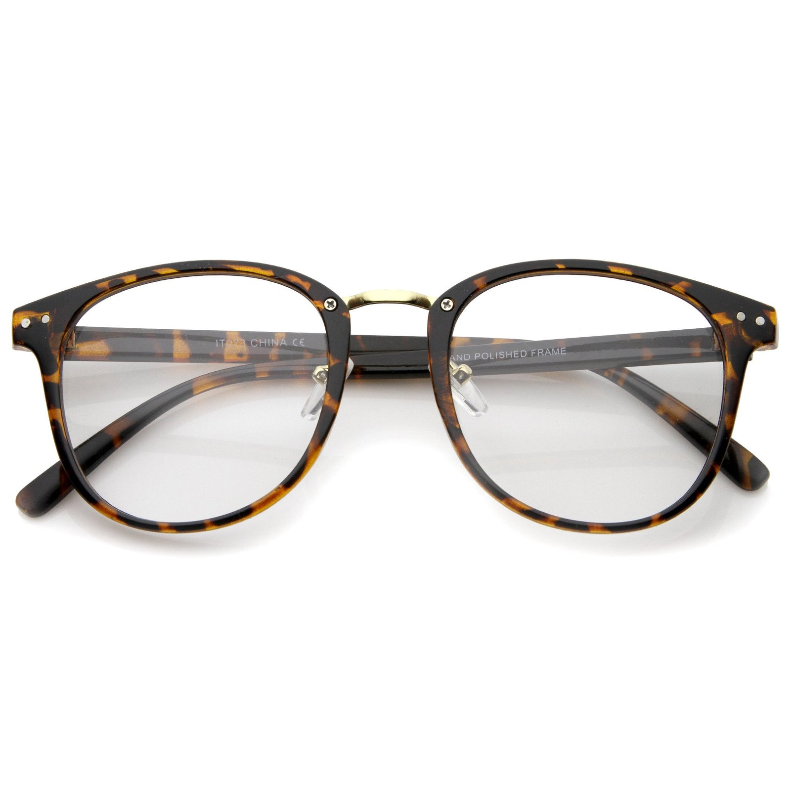 2df3bf21fe ... Lens Horn Rimmed Glasses A371 Sold Out · Tortoise Gold Clear