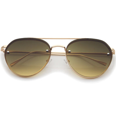 Retro Modern Rimless Aviator Sunglasses A839