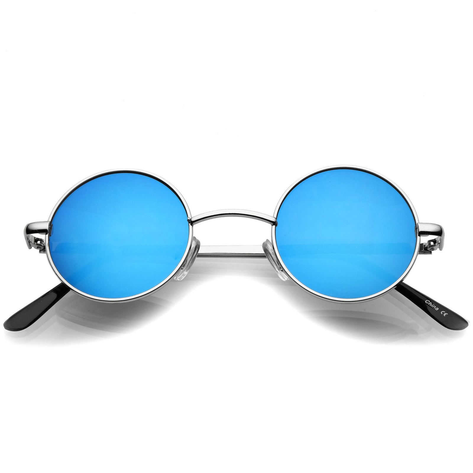 92f44067231e1 Retro Lennon Style Round Circle Metal Mirror Lens Sunglasses 1408