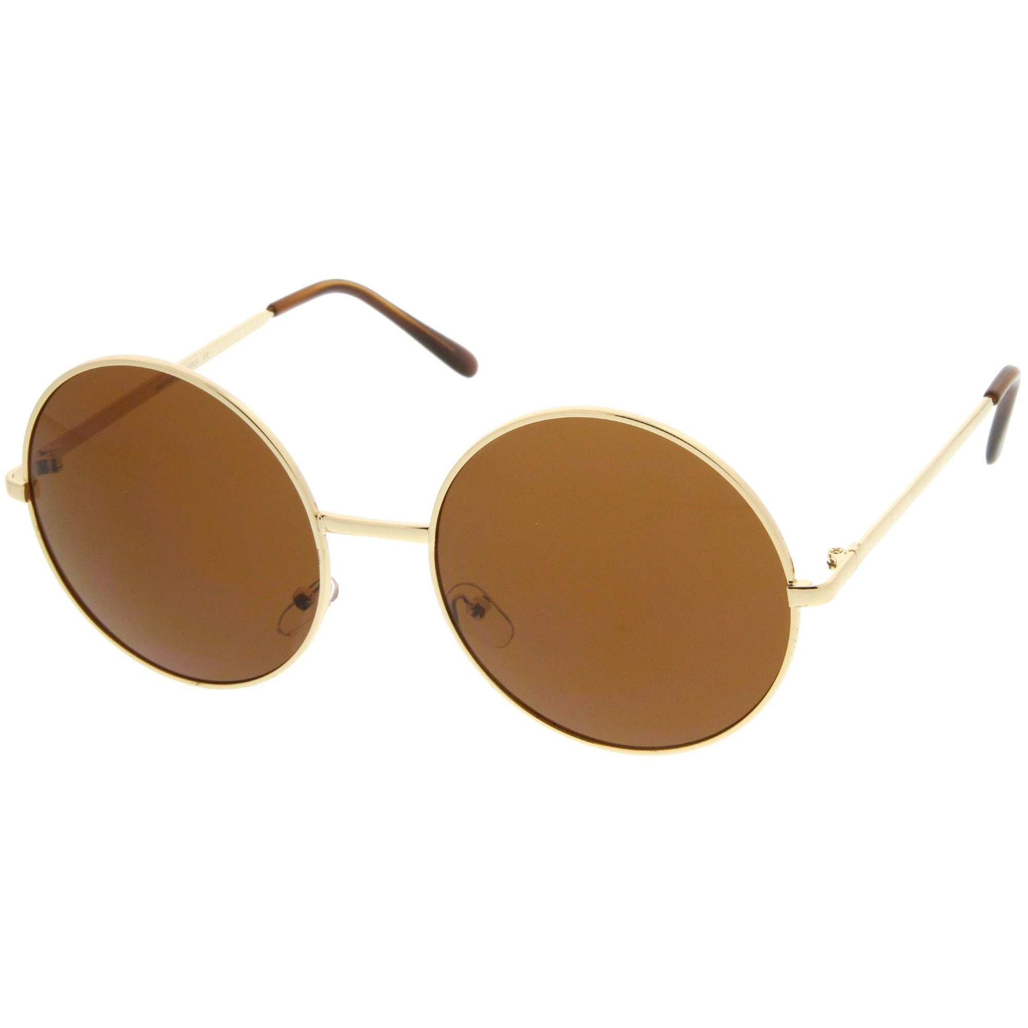 2aeb9eb0ba Oversize Vintage Inspired Metal Round Circle Sunglasses 8370
