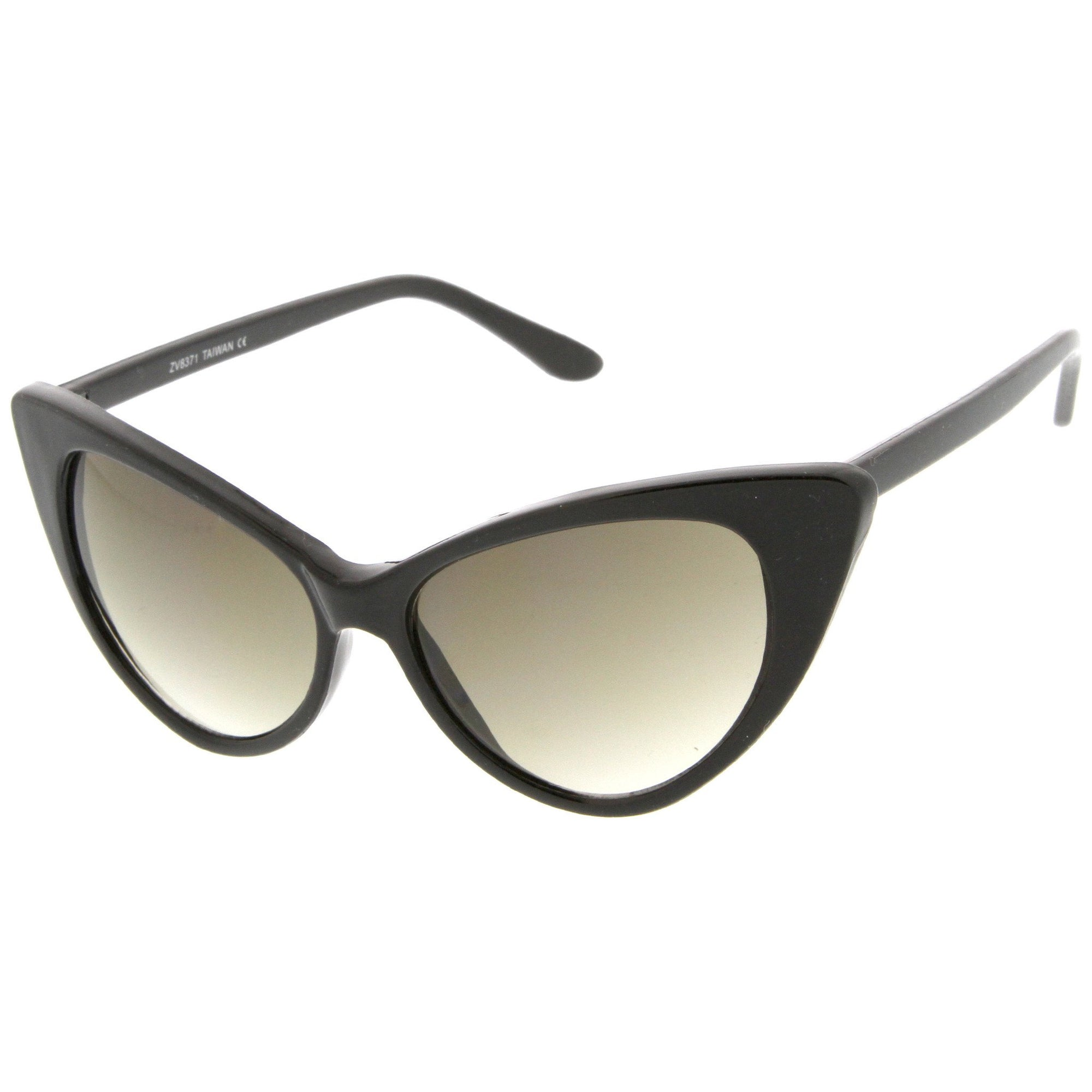 8e0eb55506827 ... Womens Fashion Hot Tip Pointed Vintage Cat Eye Sunglasses 8371 · Black  Gradient · Black Gradient