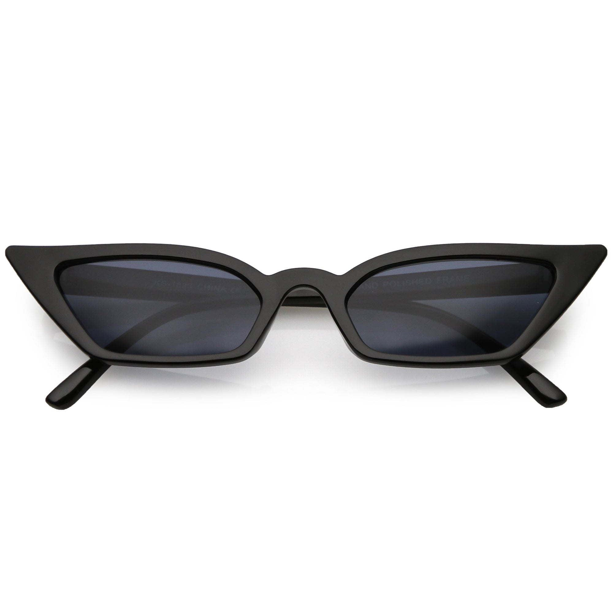 dbfeaa129f Women s 90 s Thin Retro Pointed Cat Eye Sunglasses - zeroUV