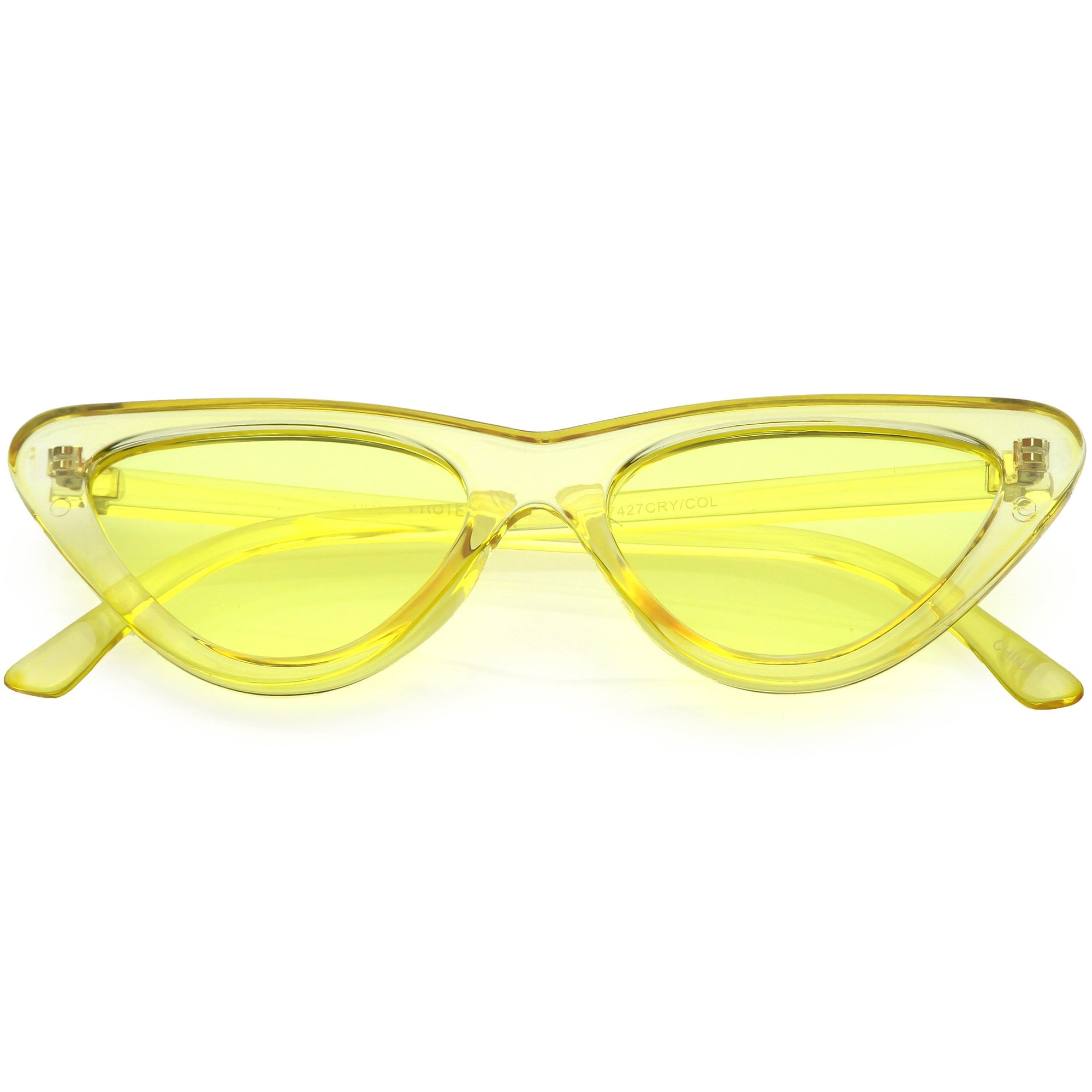 7fad4f7a3fd1 Women's Colorful Retro Indie Festival Thin Cat Eye Sunglasses - zeroUV