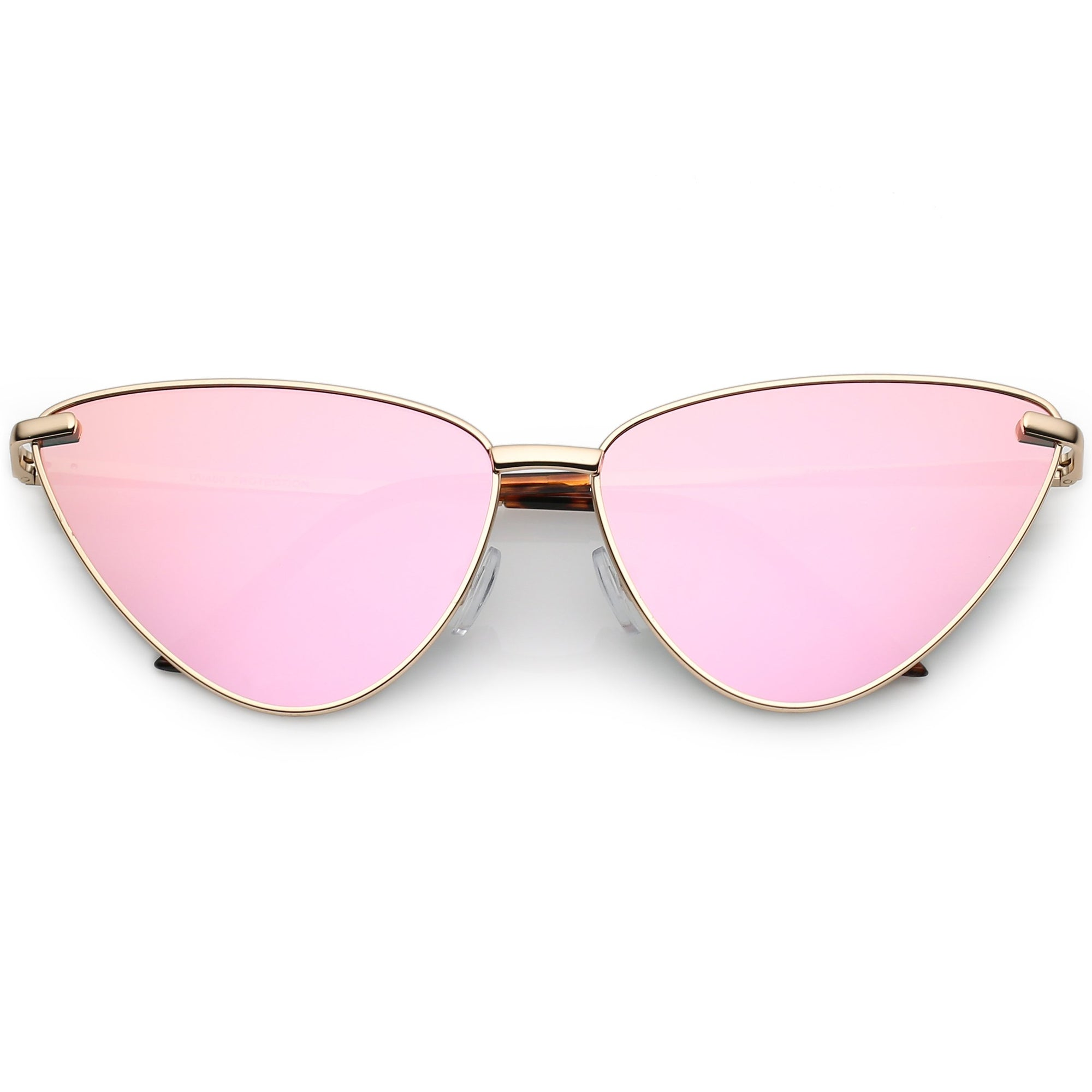 e0a5930d6d3 ... Oversize Thin Cat Eye Mirrored Flat Lens Butterfly Frame Sunglasses  C202 · Gold Pink Mirror