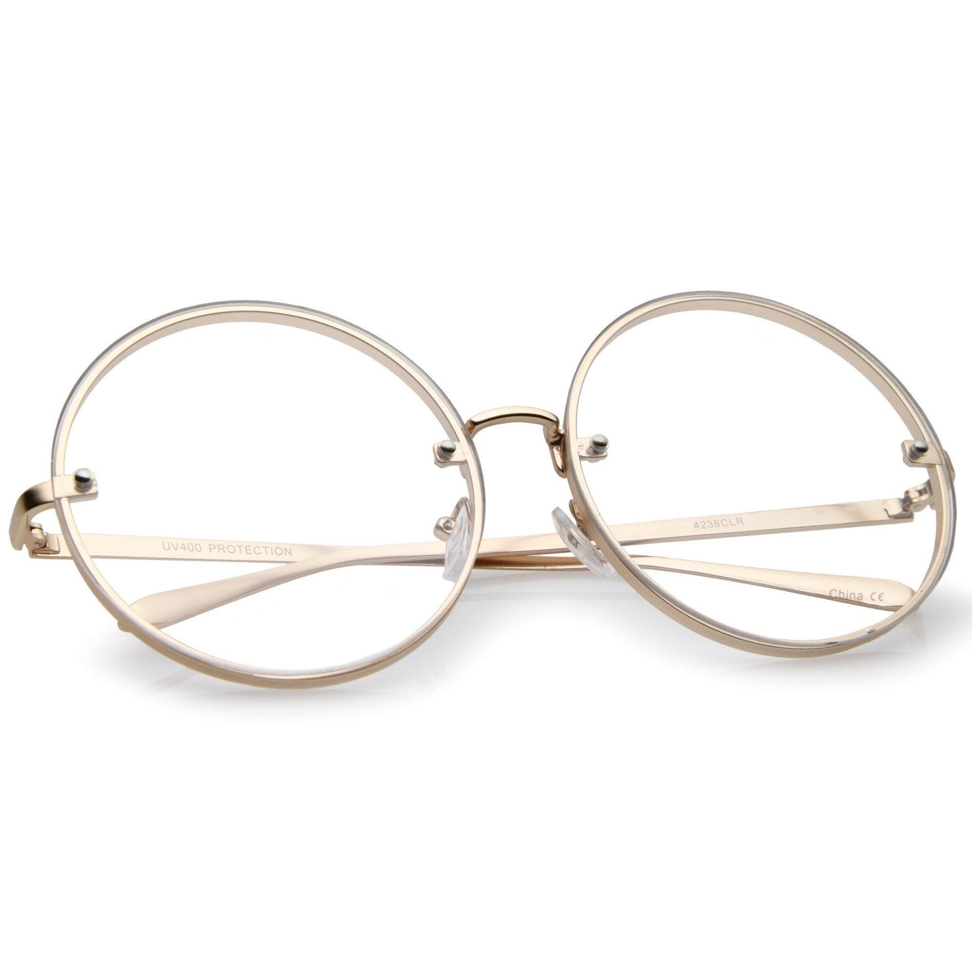 ab4a7219a028 ... Modern Oversize Infinity Round Clear Lens Glasses A896 · Gold Clear ·  Gold Clear · Gold Clear · Gold Clear
