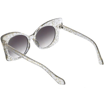 87d58854e4 Women s Oversize Butterfly Glitter Cat Eye Sunglasses - zeroUV