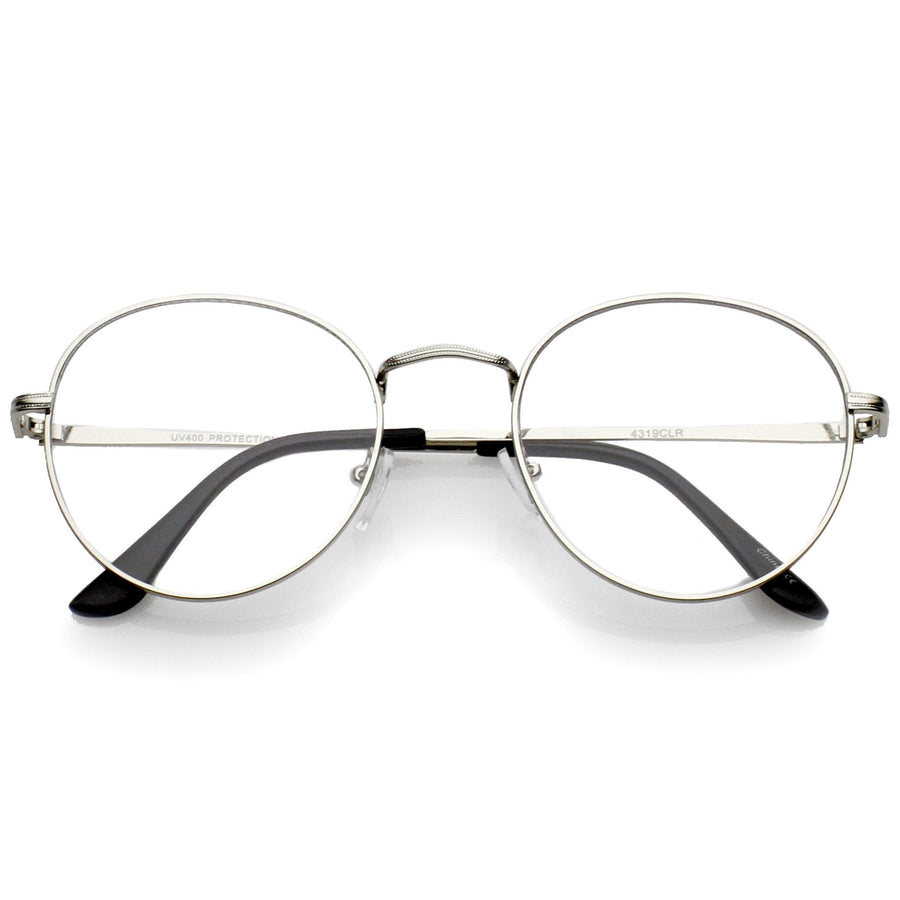 f01921844d Classic Dapper Vintage Horned Rim Clear Lens Glasses 8770  9.99 USD ·  Silver Clear