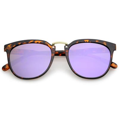 Tortoise Gold Purple Mirror