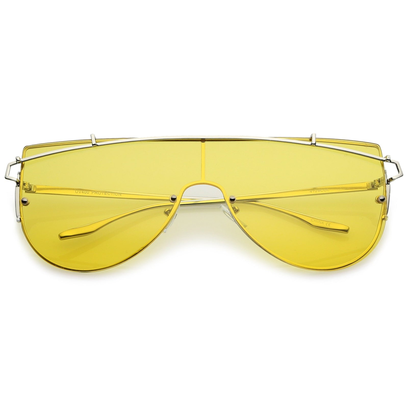 d2caf828100 Retro Modern Flat Top Shield Sunglasses A908