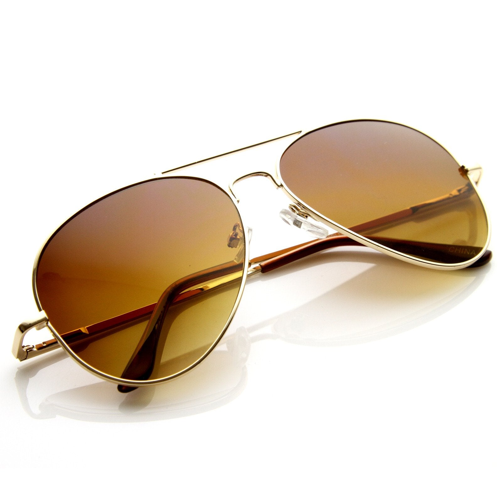 f9178b5082 Gold Amber · Gold Green · Large Premium Metal Aviator Sunglasses W  Spring  Temples 1377 · Gold Mirror
