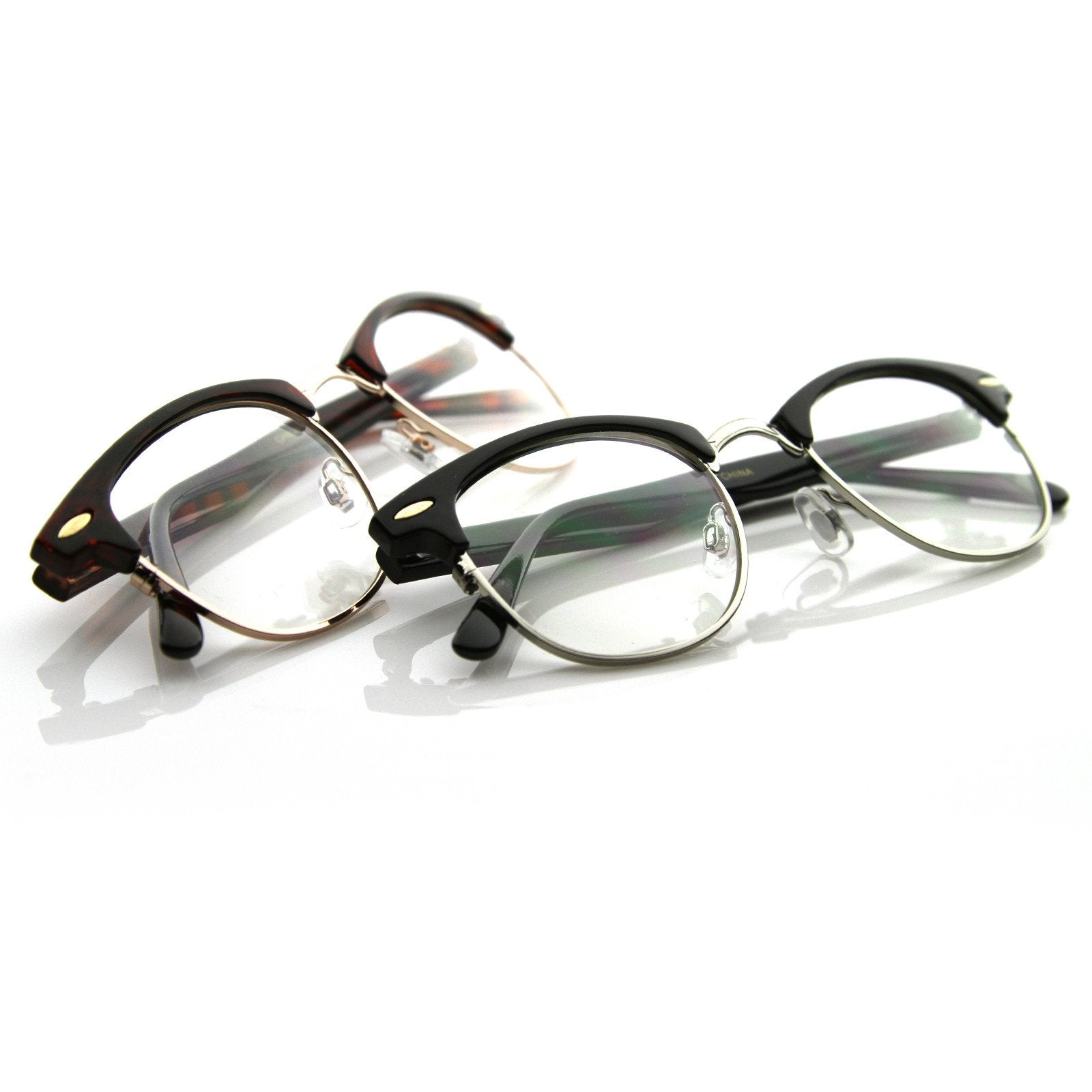 b3c53be0c81 Vintage Retro Optical RX Clubmaster Glasses 2 Pack - zeroUV