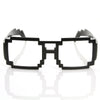Gamer Nerd Retro Pixelated 8-Bit Clear Lens Glasses 8574