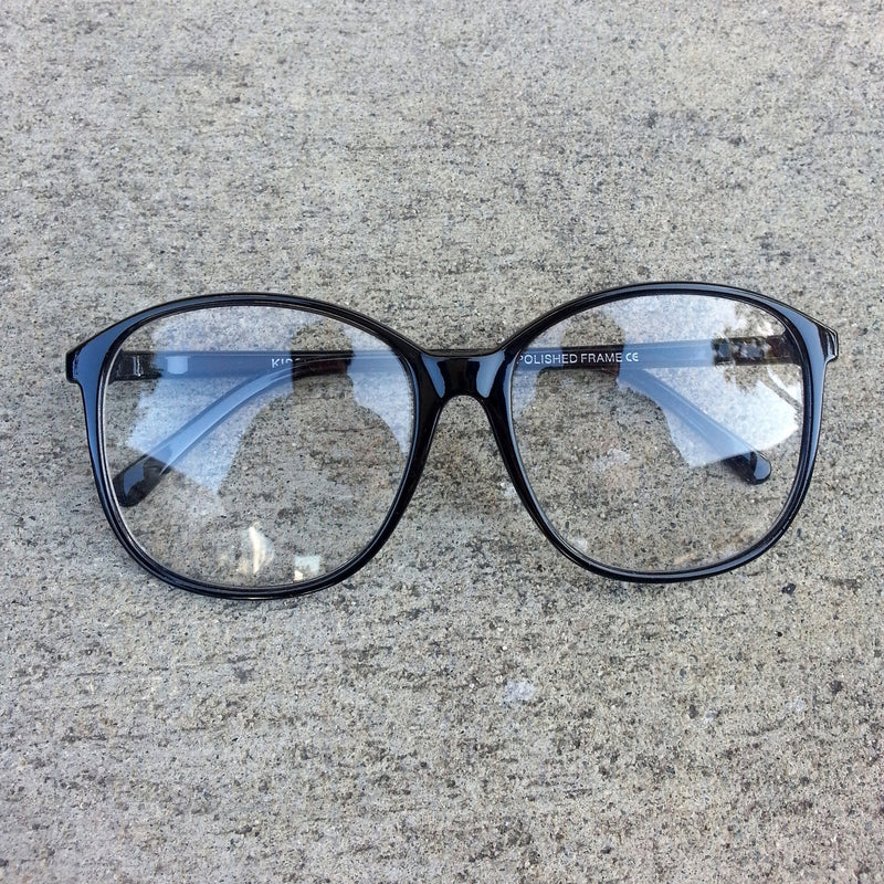 Deadstock Hipster Oversize Clear Lens Fashion Glasses