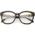 Oversize Round Indie Horned Rim Clear Lens Glasses C612