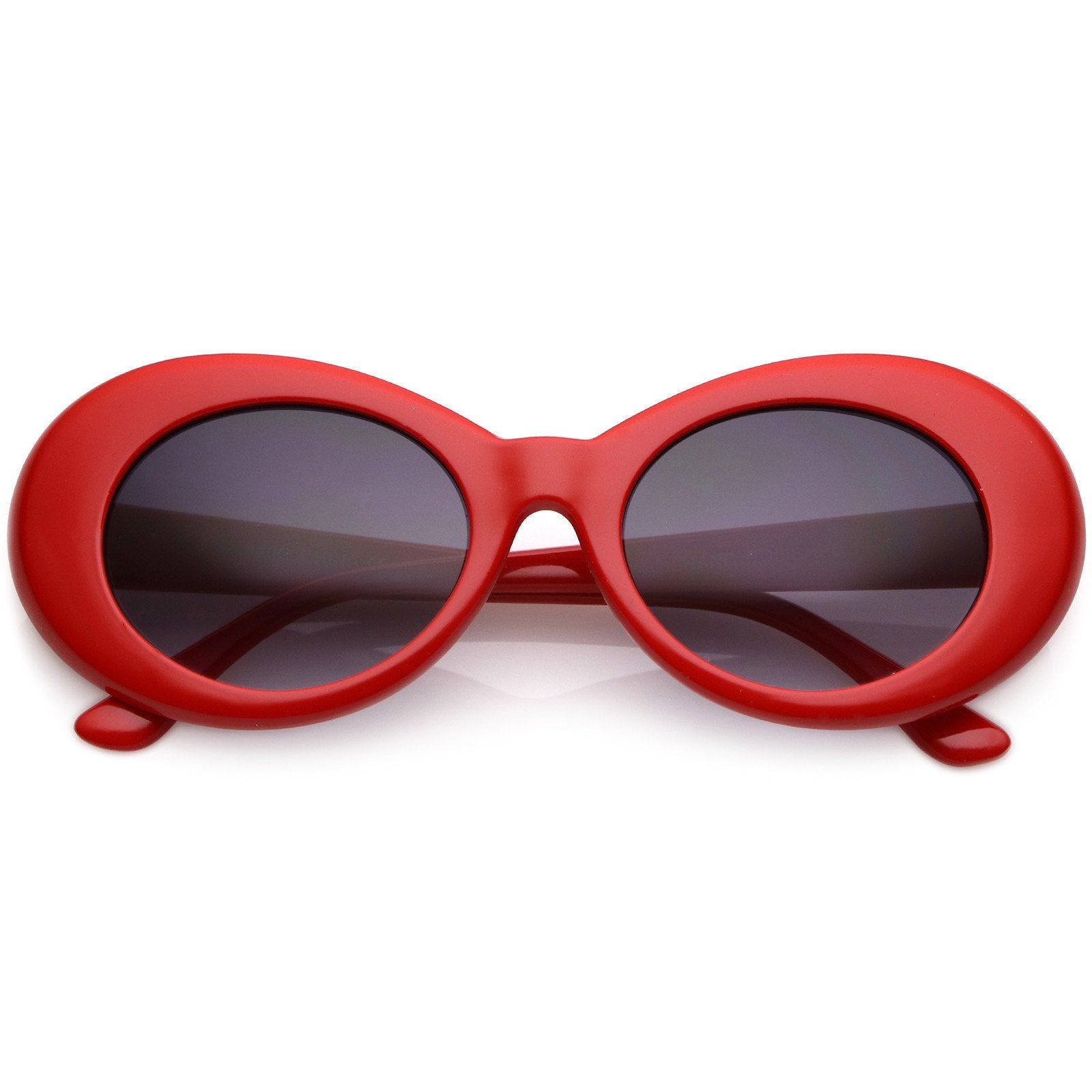ed7df7eb073 Colorful Retro 1990 s Fashion Round Clout Oval Lens Sunglasses - zeroUV
