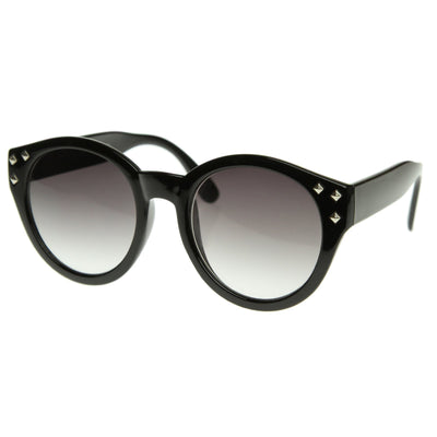 Retro Oversize Round Womens Studded Fashion Sunglasses 8432