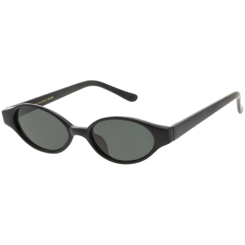 c4e64240ce11 Black Smoke · Indie True Vintage Pinched Oval Round Sunglasses C648