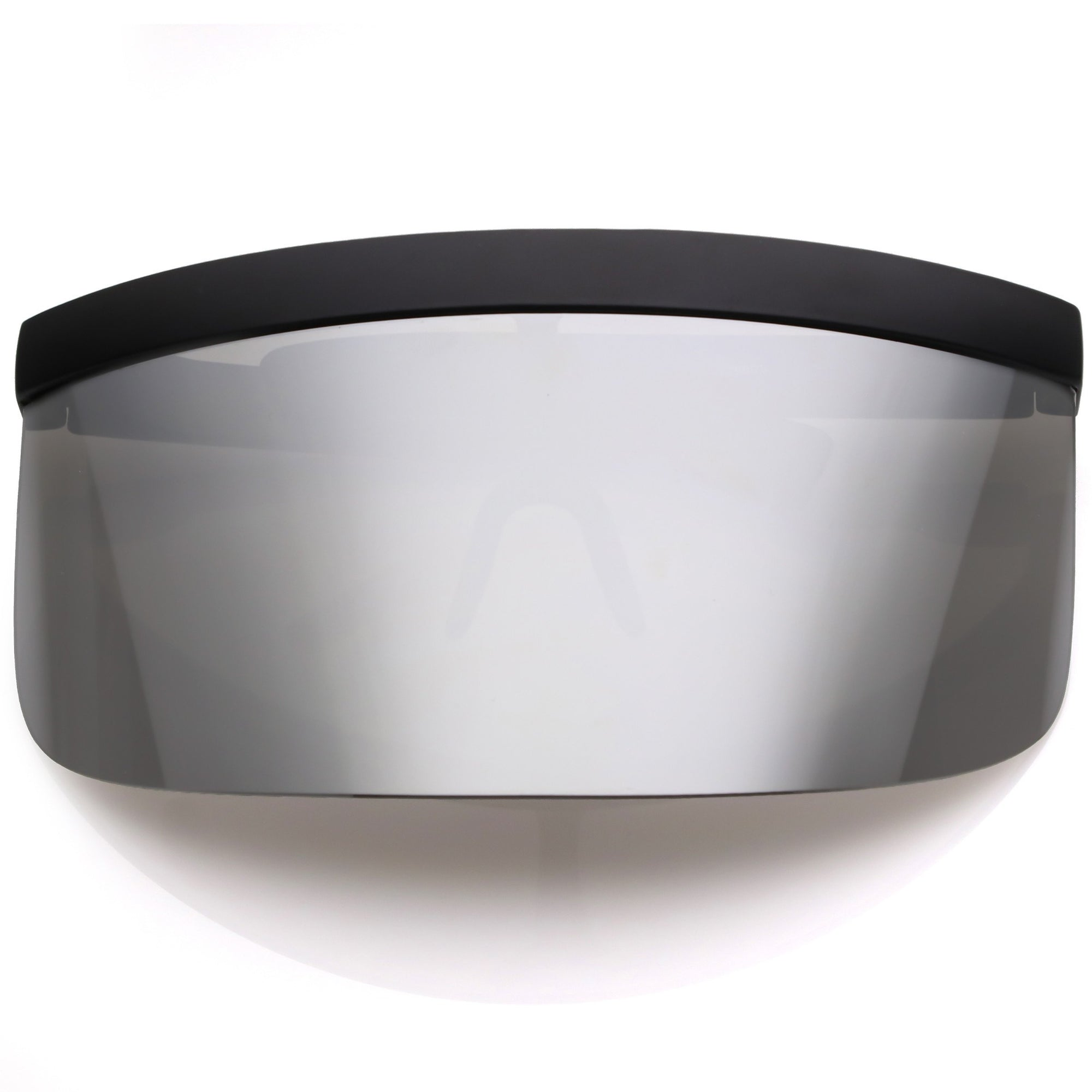 ff1faea602f ... Oversize Novelty Mirrored Lens Shield Visor C453 · Silver Mirror