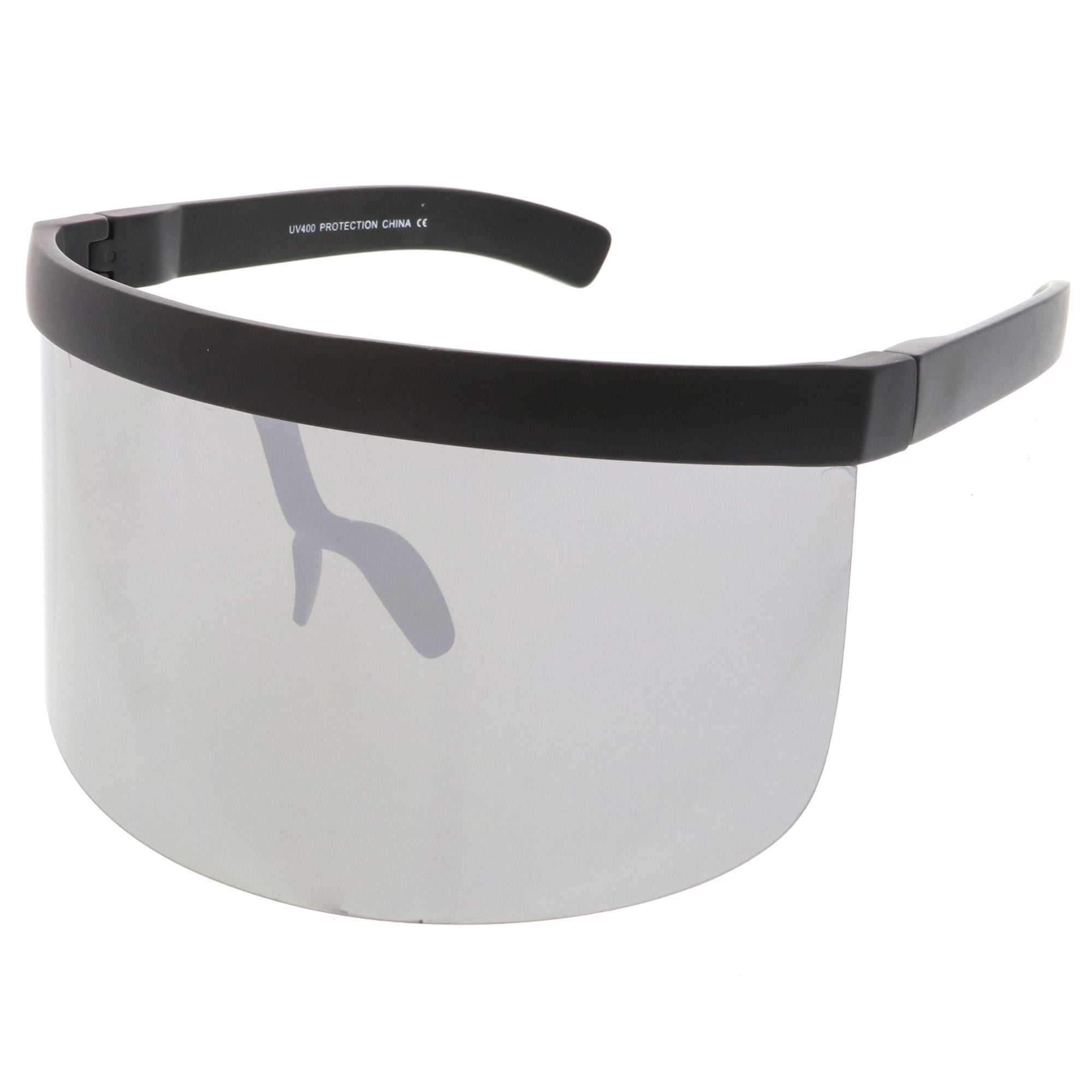 5d37097ee30 ... Oversize Novelty Mirrored Lens Shield Visor C453 · Silver Mirror ·  Silver Mirror