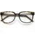 Premium Metal Arm Fashion Square Clear Lens Glasses 8630