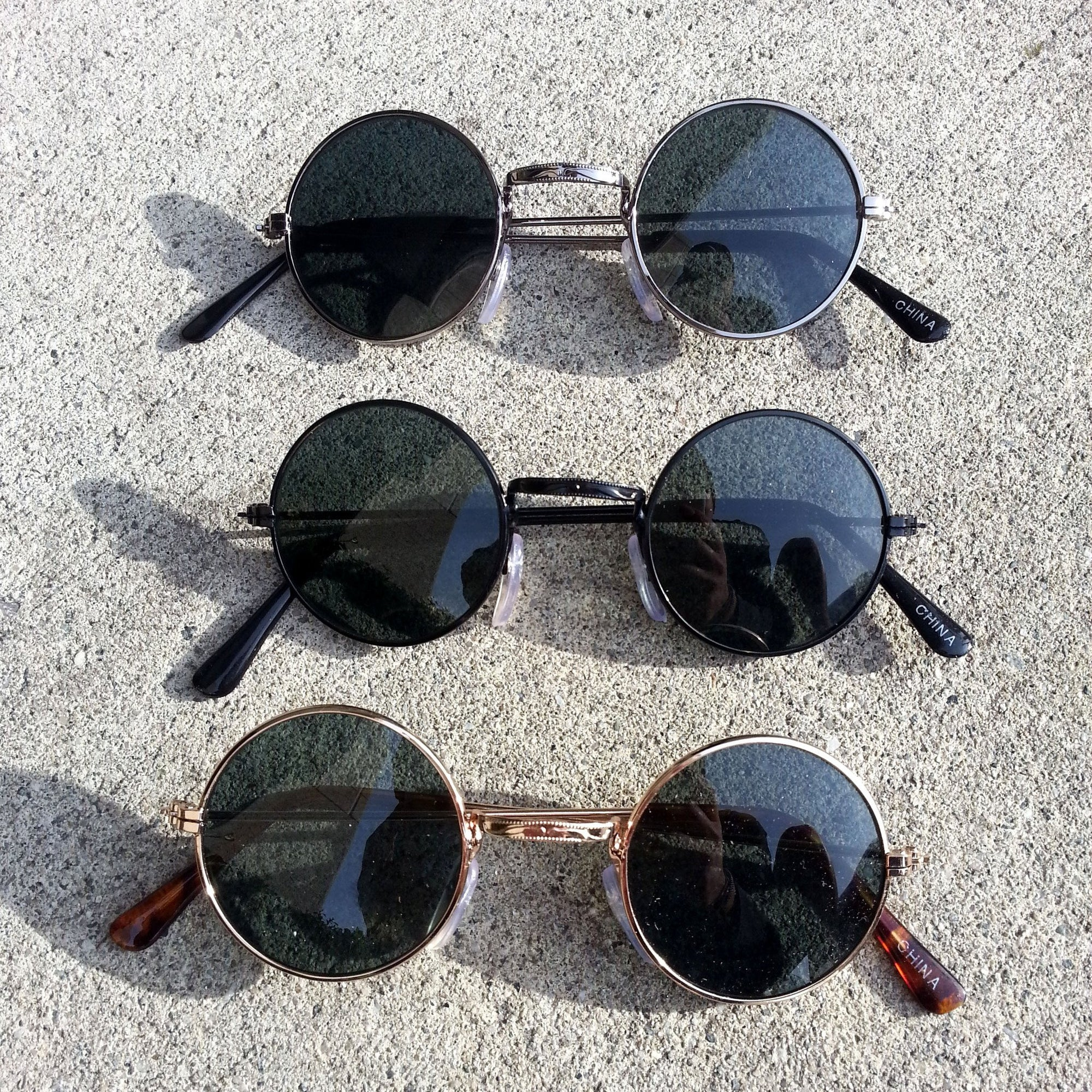 Genuine Steampunk Vintage Round Spectacles Sunglasses 7012