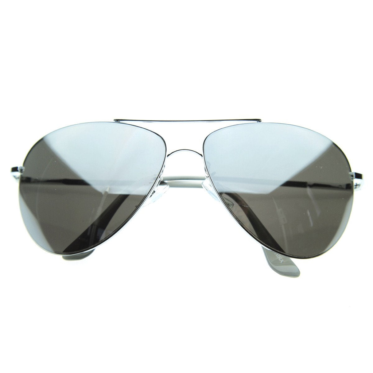 2d7561bcc4e9 Oversize Large Full Metal Aviator Sunglasses 60mm 9682  9.99 USD · Full  Mirrored Lens Class Curved Metal Aviator Sunglasses 1535