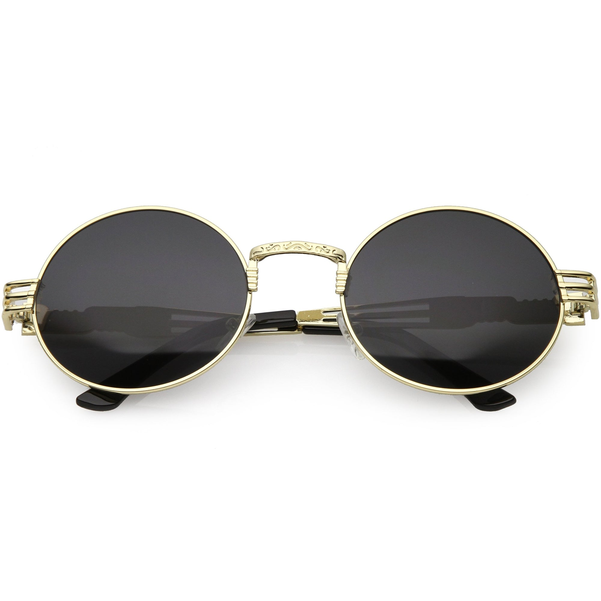 00627e22cd Vintage Steampunk Inspired Metal Oval Sunglasses C667
