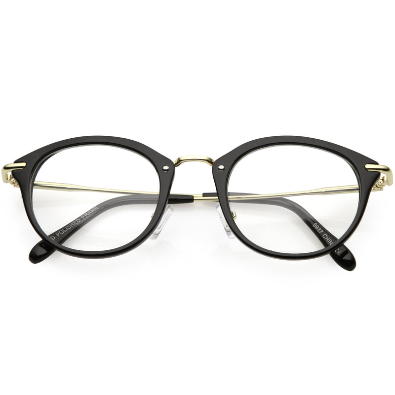 Vintage Inspired Dapper P3 Horned Rim Clear Lens Glasses C665