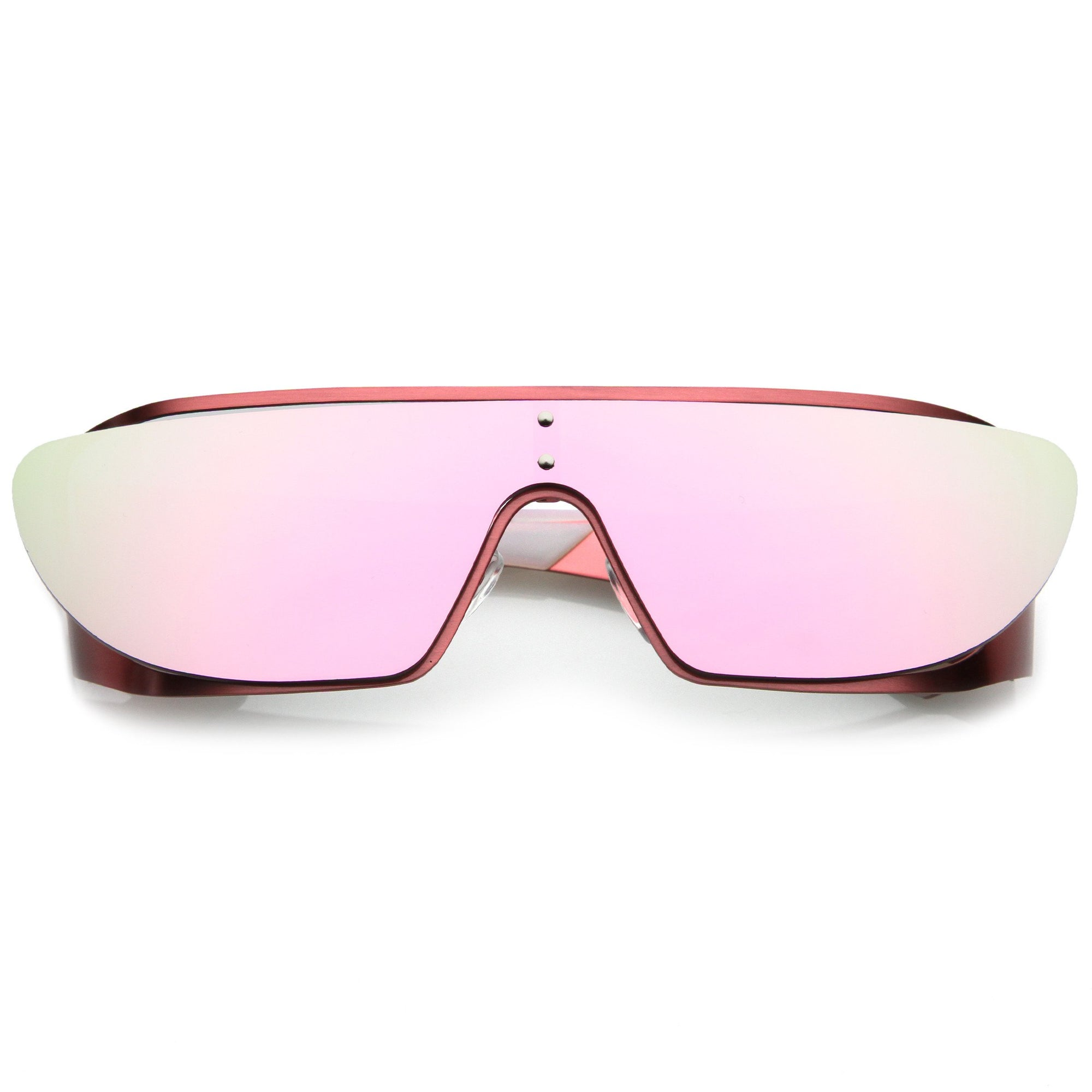 a92b26cd0f Futuristic Space Cadet Metal Cutout Shield Sunglasses - zeroUV