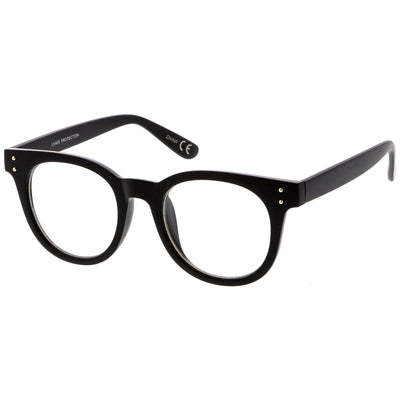 1aa67c6139 Retro Dapper Hipster Indie Horned Rim Clear Lens Glasses - zeroUV