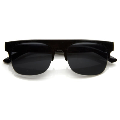 Retro Modern Super Flat Top Horned Rim Sunglasses 8694