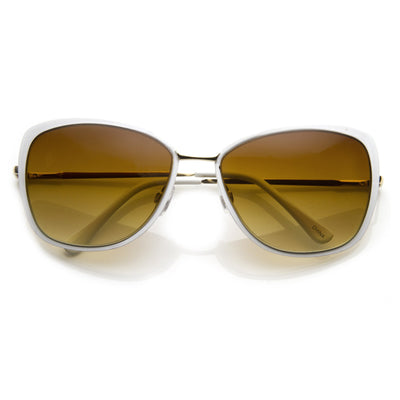 34d00fb9083 Elegant Oversize Square Cat Eye Metal Sunglasses - zeroUV