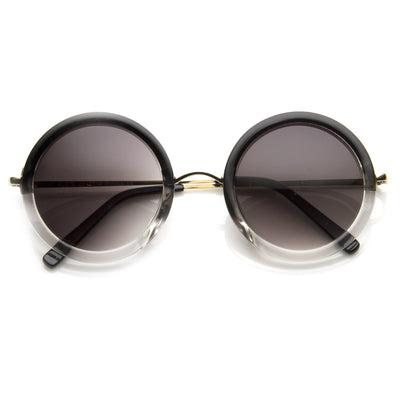 Famous Designer Fashion Color Fade Round Sunglasses 8699