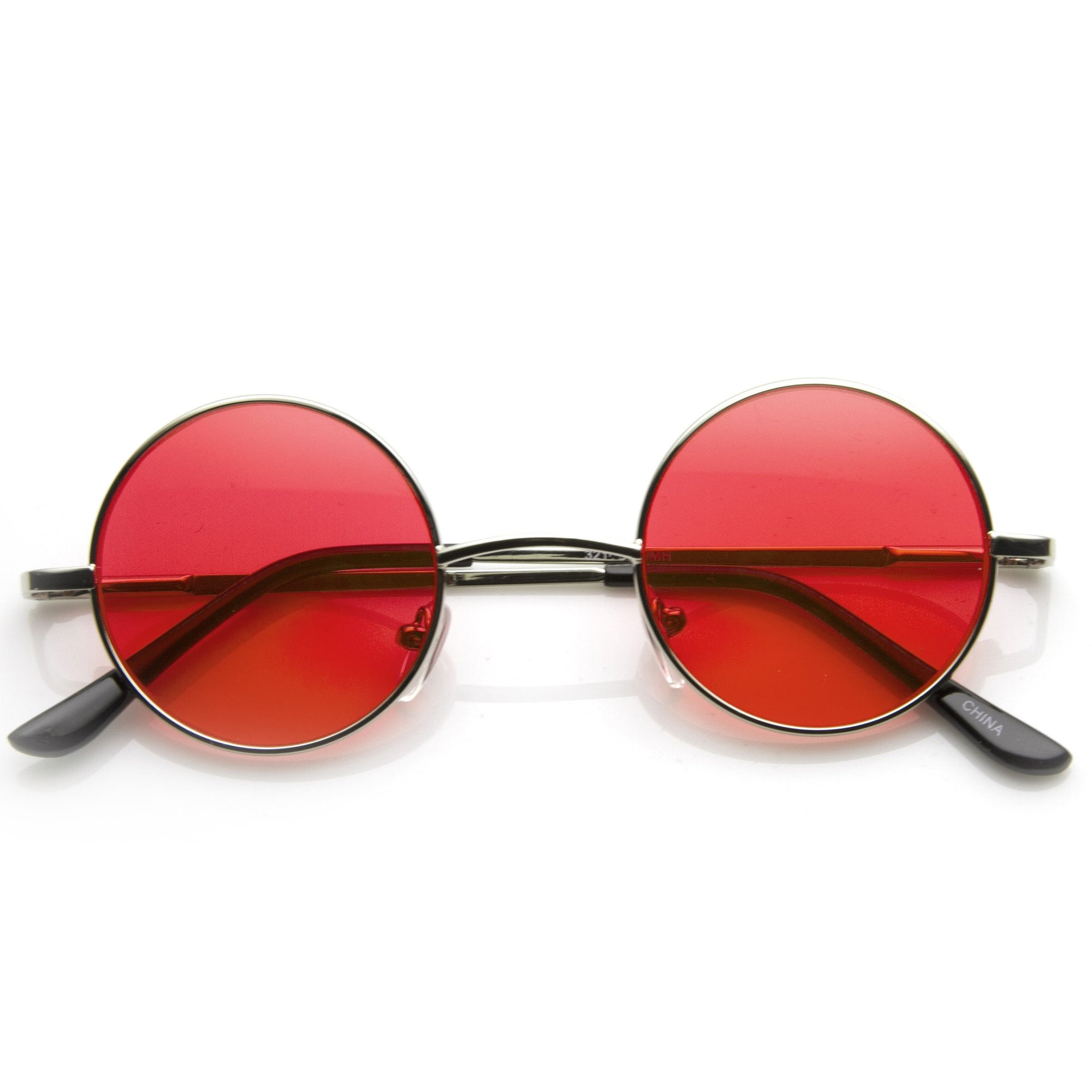 054262c167e4 Small Lennon Vintage Inspired Round Circle Color Lens Metal Sunglasses 8702