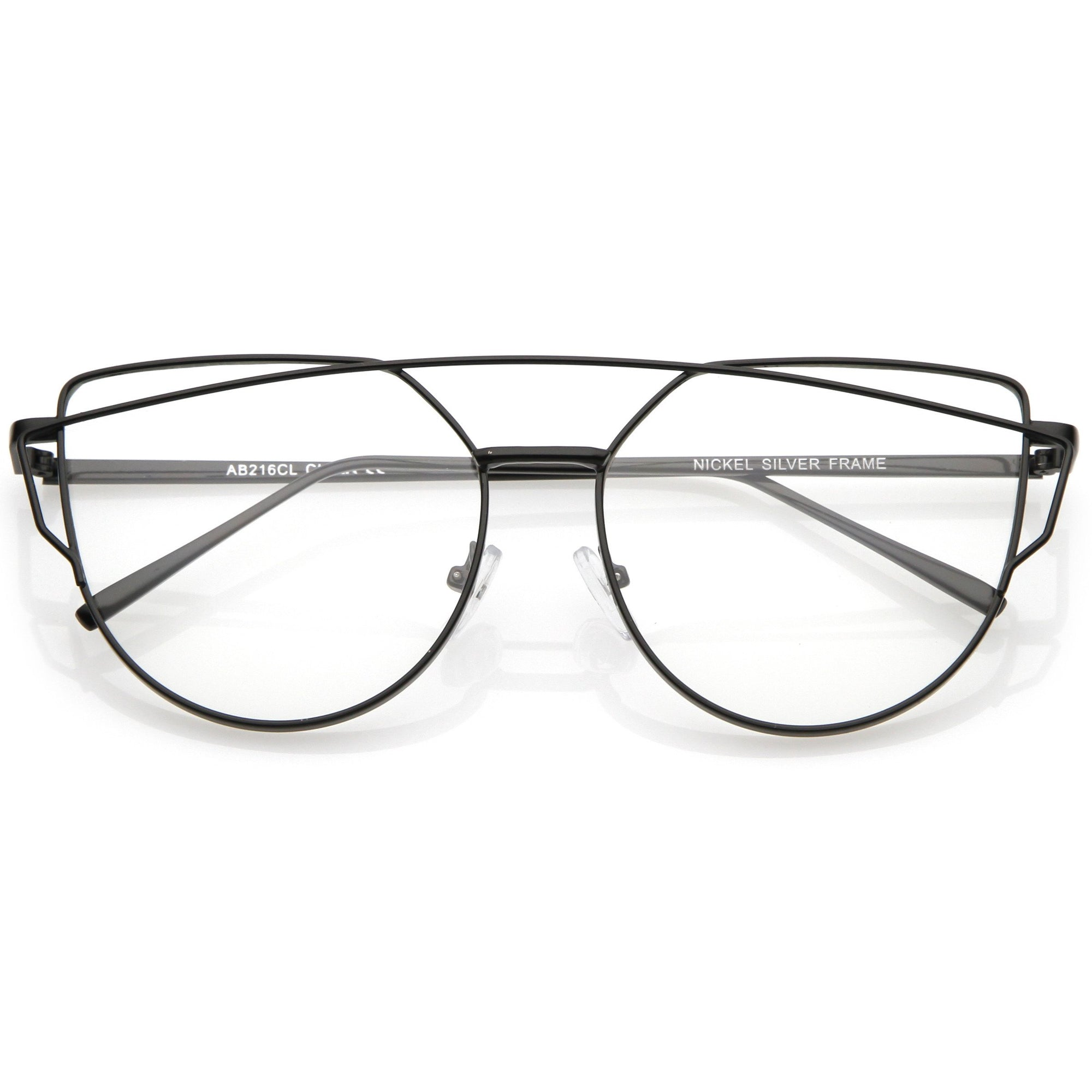 f9a42252c65 Retro Modern Intricately Designed Clear Lens Glasses C295