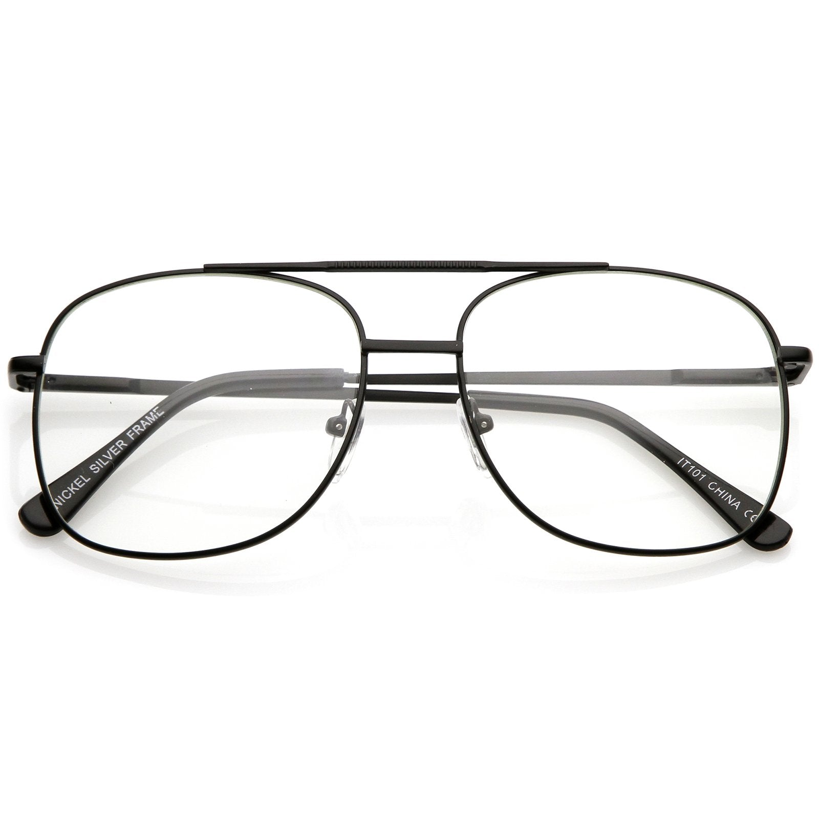 d35ca708f72 Vintage Indie Large Square Clear Lens Glasses C307