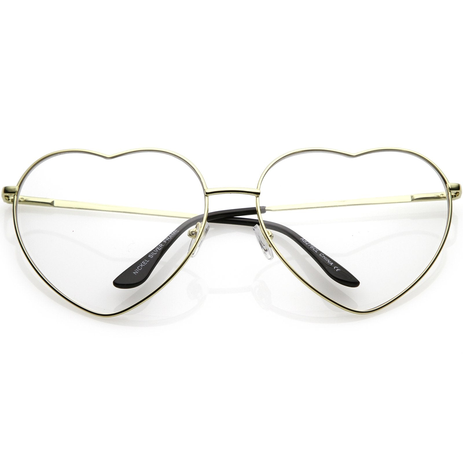 024ed80c097 Oversize Women s Festival Heart Shape Clear Lens Glasses C304