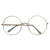 1920's Vintage Era Large Round Metal Clear Lens Glasses 8714