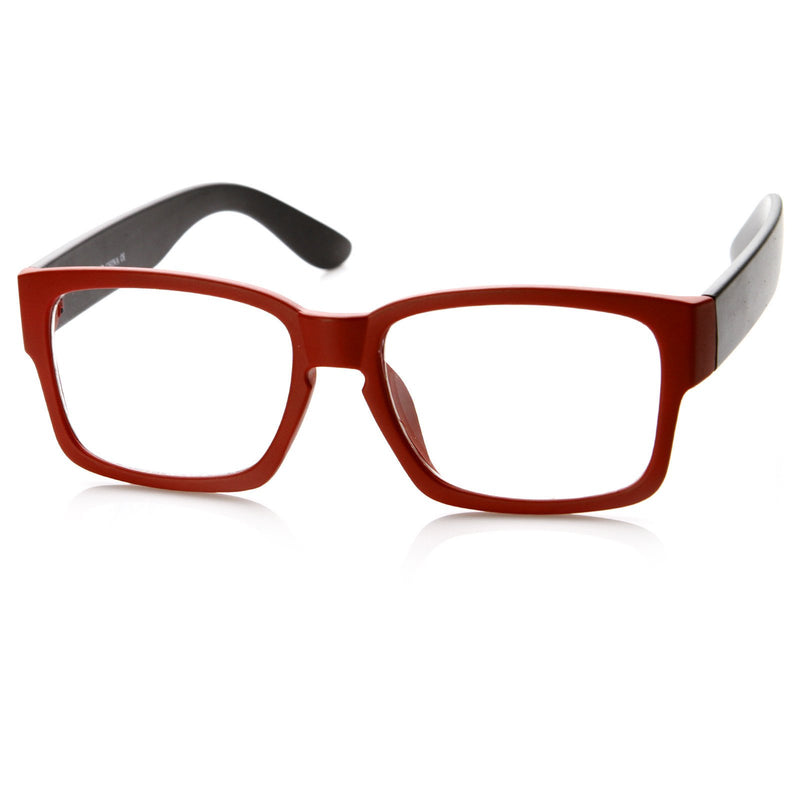 New Modern Two Tone Color Square Optical Frame Glasses 8718