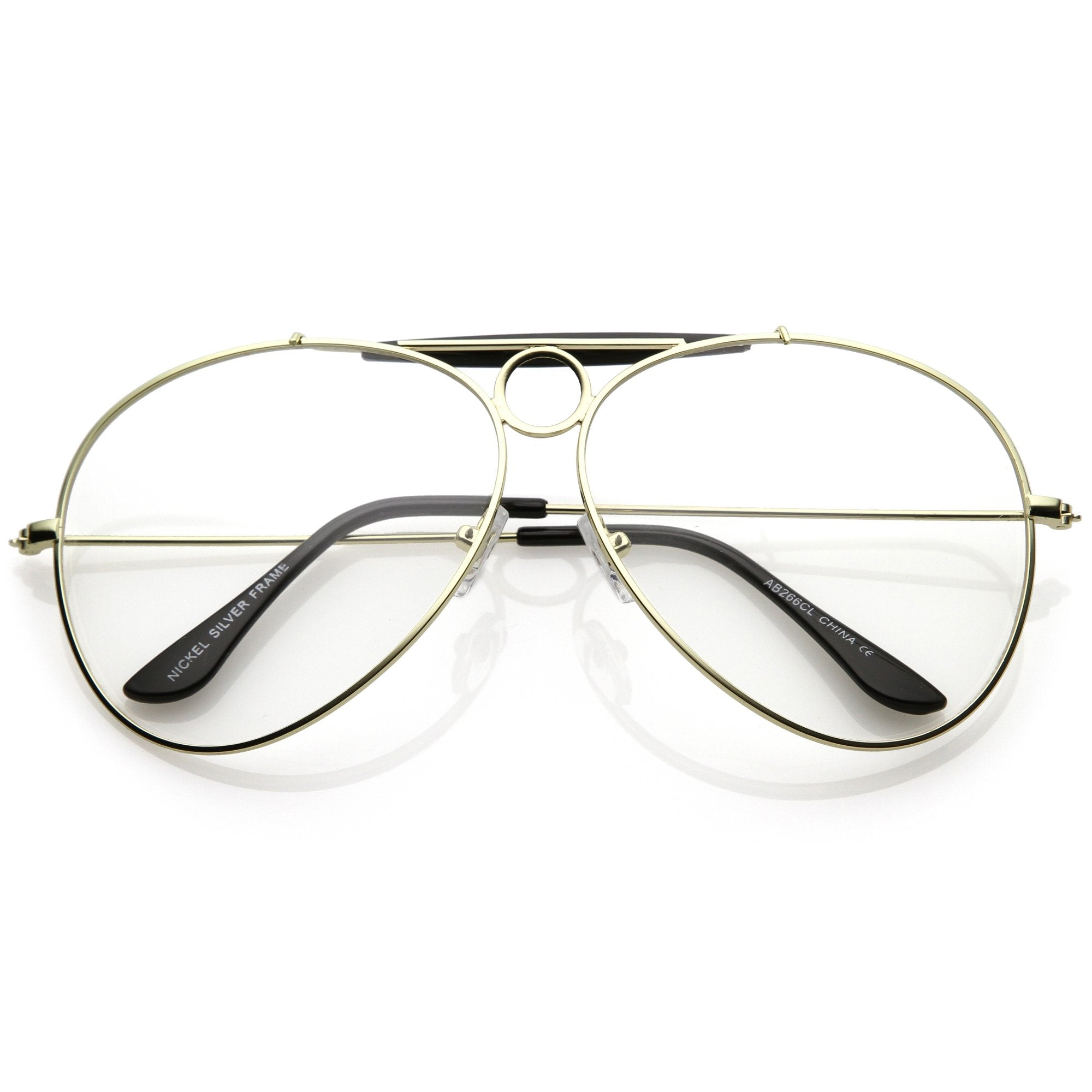 990cd1d2029 Oversize Retro Dad Fashion Clear Lens Aviator Glasses C301