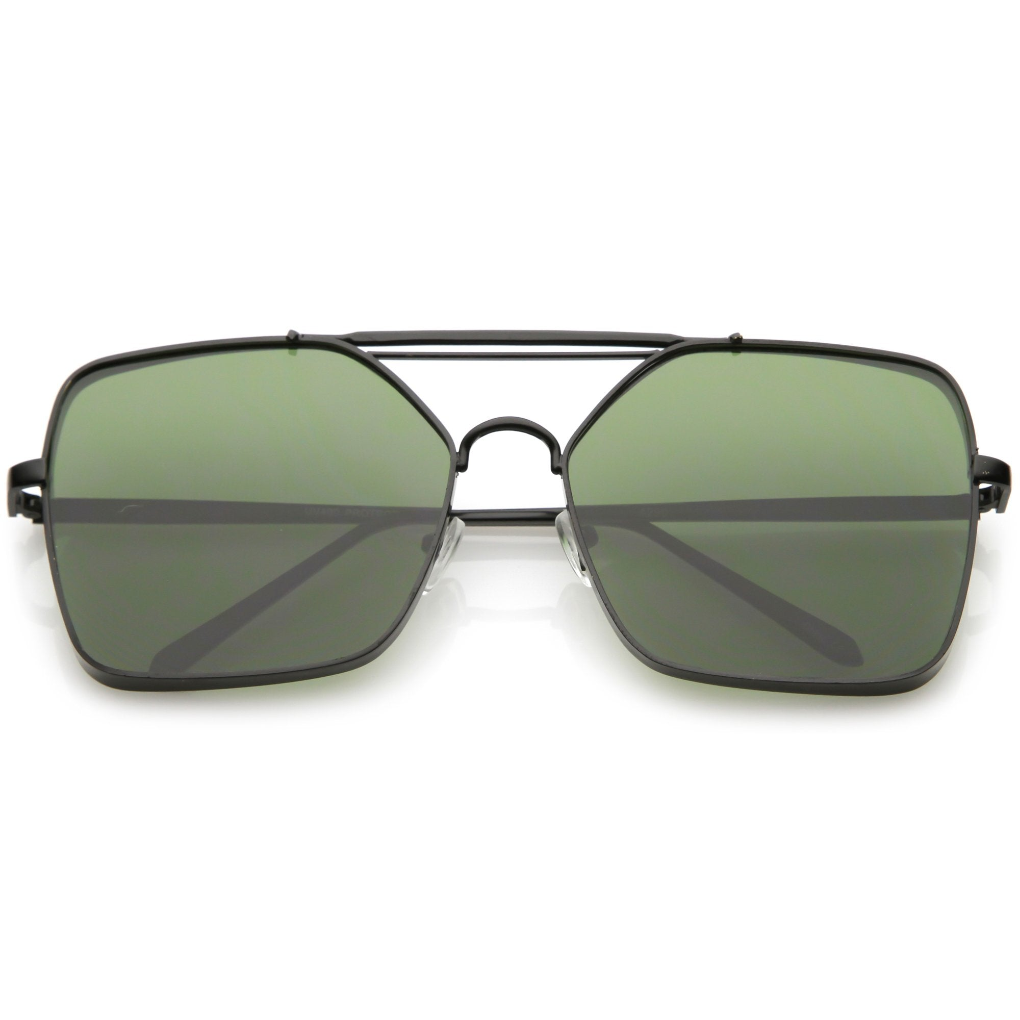 8b67a01cca451 ... Modern Square Reinforced Metal Flat Lens Aviator Sunglasses C161 ·  Black Green