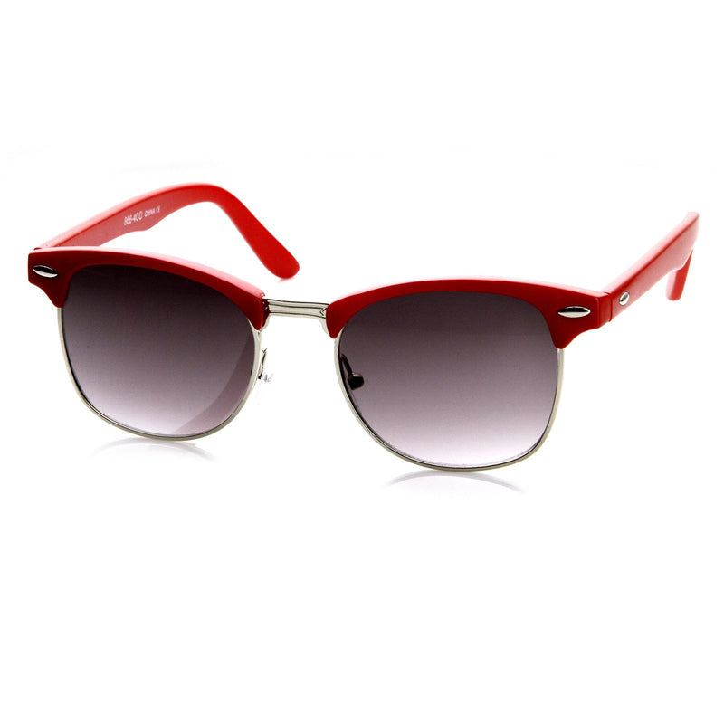 Retro Colorful Half Frame Horned Rim Sunglasses 8735
