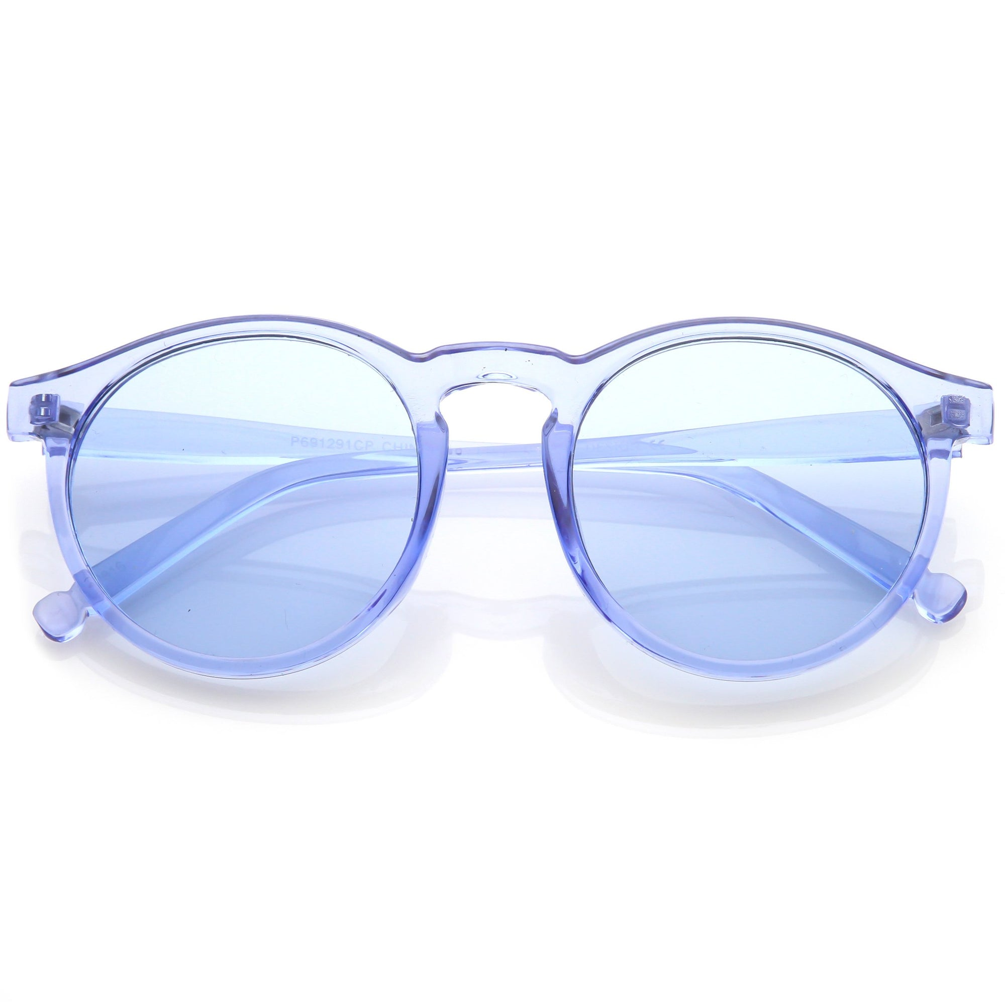 61f20c5b8afb8 Round Festival Party Translucent Pantone Tinted Lens Sunglasses - zeroUV