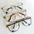 Experts Only Vintage Clear Lens Metal Horned Rim Glasses