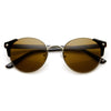 Steampunk Dapper Vintage Round Pointed Aviator Sunglasses 8765
