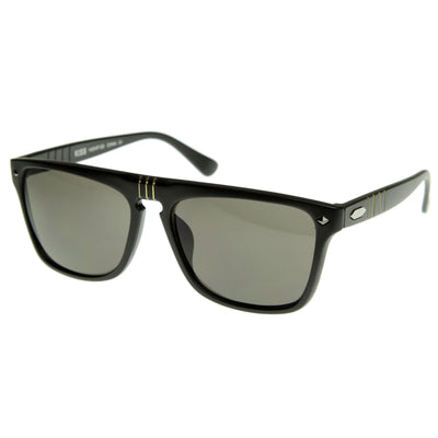 European Mens Designer Flat Top Dapper Sunglasses 8450