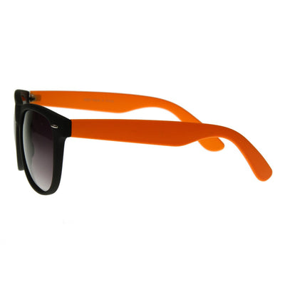 Retro Neon Color 2 Tone Horned Rim Sunglasses 2793