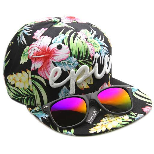 ... Exclusive Zerouv X Epic BMX Collaboration Snapback Cap Hat · Tropical  Black 24fd6688086
