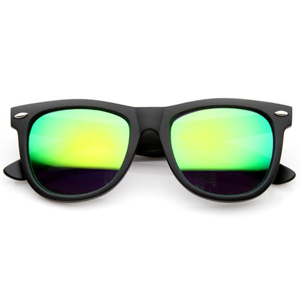 ed5f715ca9 ... Sunglasses With Flash Mirror Lens 9634 · Black Green
