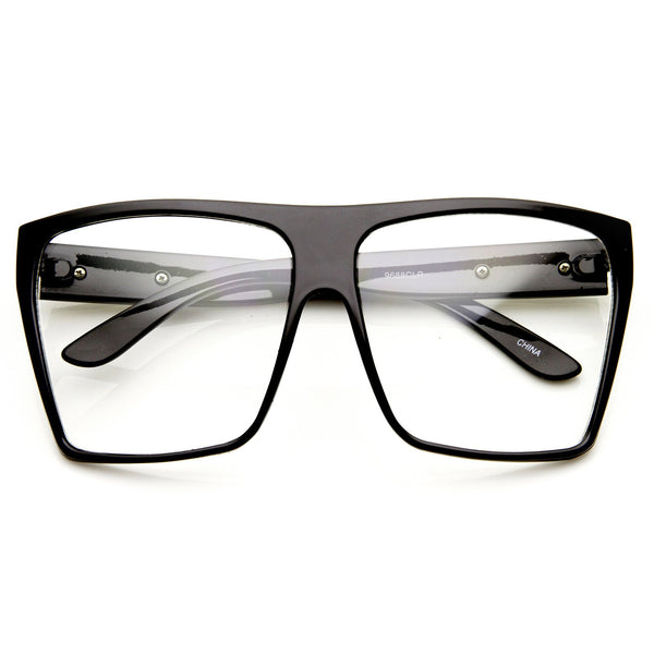 92a07b47da5 Super Oversize Square Clear Lens Fashion Glasses - zeroUV
